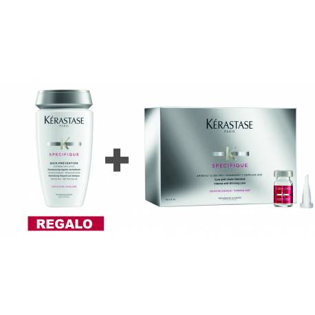 KERASTASE AMINEXIL 42 AMPOLLAS, BAÑO PREVENTION 250 ML, MASQUE VIAJE 75 ML