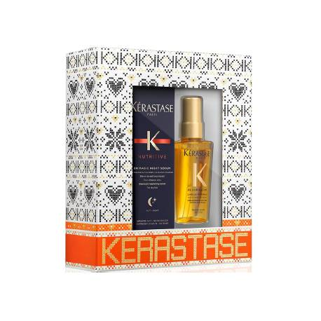 KERASTASE PACK 8H MAGIC NIGHT SERUM 90ML +ELIXIR ULTIME  MINI 50ML.