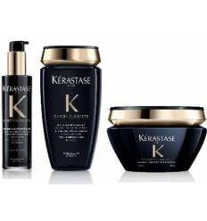 PACK KERASTASE CHRONOLOGISTE BAÑO 250 ML + MASCARILLA 200ML + THERMIQUE 150ML.