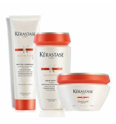 PACK  KERASTASE NUTRITIVE BAÑO 250ML + MASCARILLA 200ML. + NECTAR THERMIQUE 150 ML